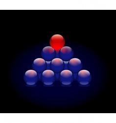 sphere pyramid vector image vector image