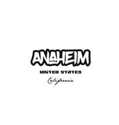 United states anaheim california city graffitti vector