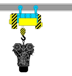 Device for lifting the engine for repair vector