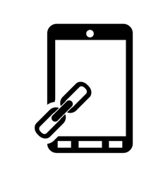 Modern cellphone and link icon vector