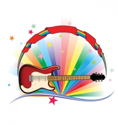 Guitar light vector