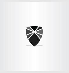 Black shield element icon symbol vector