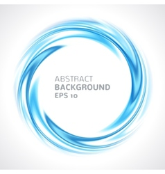 Abstract blue swirl circle bright background vector