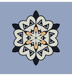 Mandala on light blue gray background Vintage vector image