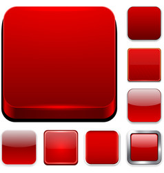 Square red app icons vector