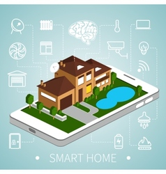 Isometric smart home vector