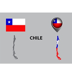 Map of chile and symbol vector