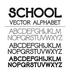 School alphabet set vector