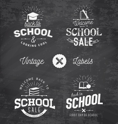 Back to school typographical design elements vector