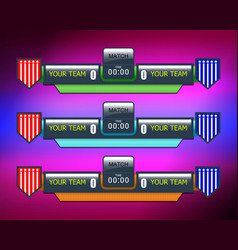 Soccer or football score vector