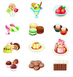 Sweets icons vector