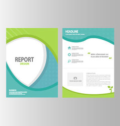 Green blue brochure flyer leaflet presentation set vector