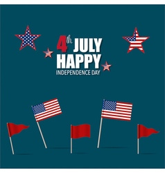 Happy independence day card 4th of july vector