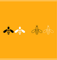 bee it is white icon vector image vector image
