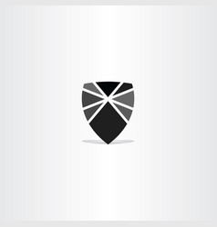 black shield element icon symbol vector image