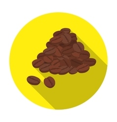 Brazilian coffee icon in flat style isolated on vector image
