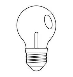 bulb icon outline style vector image vector image