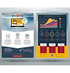 Business flyer template for mobile application or vector