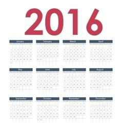 Calendar 2016 new year vector