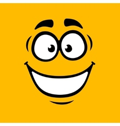 Cartoom Smile on Orange Background vector image vector image