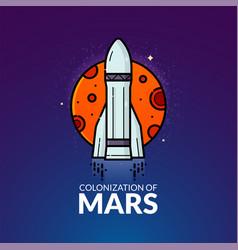 colonization of mars vector image vector image