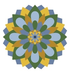 Colored mandala or circular pattern vector