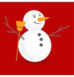 Cute little snowmen vector