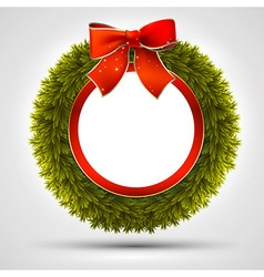 decorative Christmas wreath vector image vector image