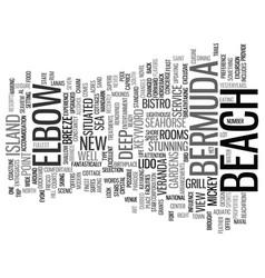 Elbow beach in bermuda text background word cloud vector
