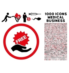 Free offer rounded icon with medical bonus vector