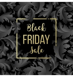 Golden Black Friday sale lettering background vector image