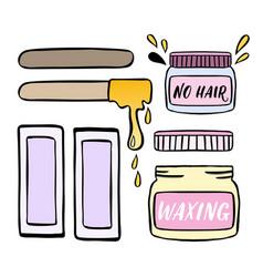 Hair removal hand drawn waxing vector