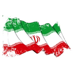 Iran Flag Grunge vector image vector image