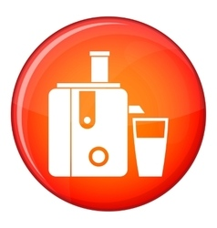 Juicer icon flat style vector