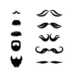 mustache and beard set vector image