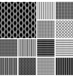 Striped textures set vector image vector image