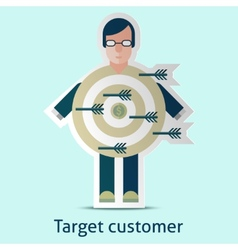 Target customer concept vector image vector image