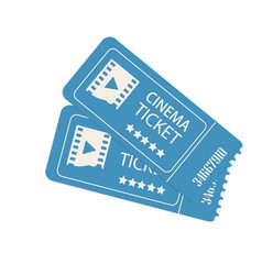 Two cinema tickets isolated on white vector
