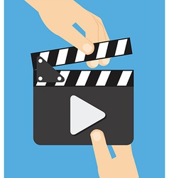 video clapper vector image