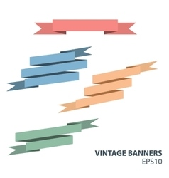 vintage banners vector image vector image