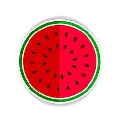 Watermelon red green icon fla vector