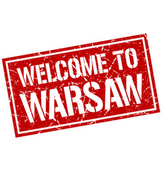 Welcome to warsaw stamp vector