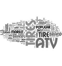 Which brand of atv tires is the best text word vector