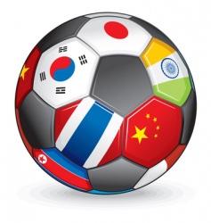 world soccer ball vector image vector image