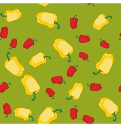 Yellow and red pepper seamless texture 609 vector image vector image