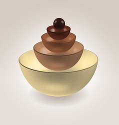 Chocolate cups vector