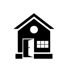 House with open door icon simple style vector