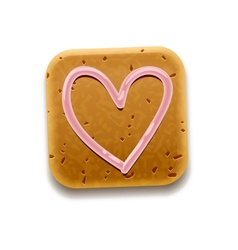 Cookie Thumbs Up icon vector image