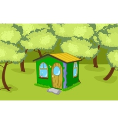 House in the wood vector