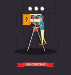 professional electrician concept vector image